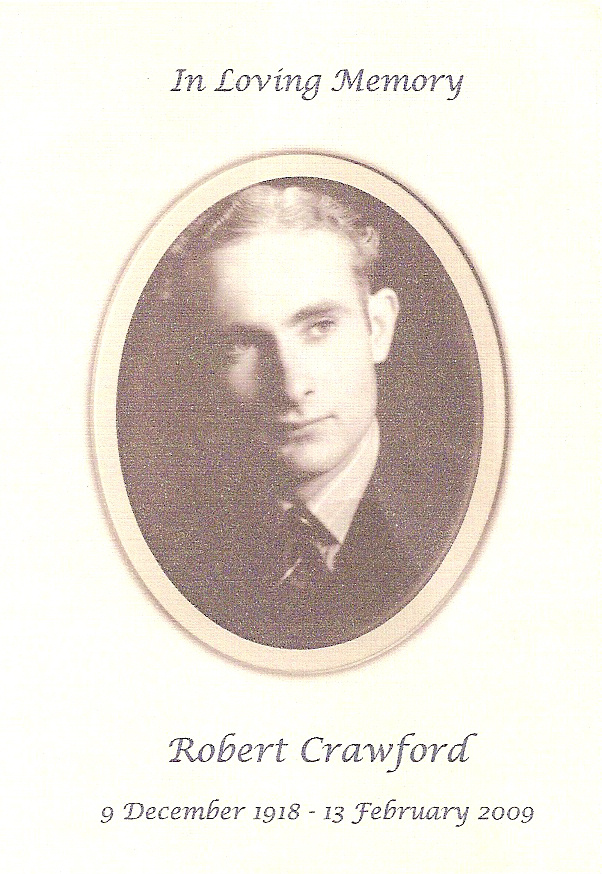 Robert Crawford memorial card