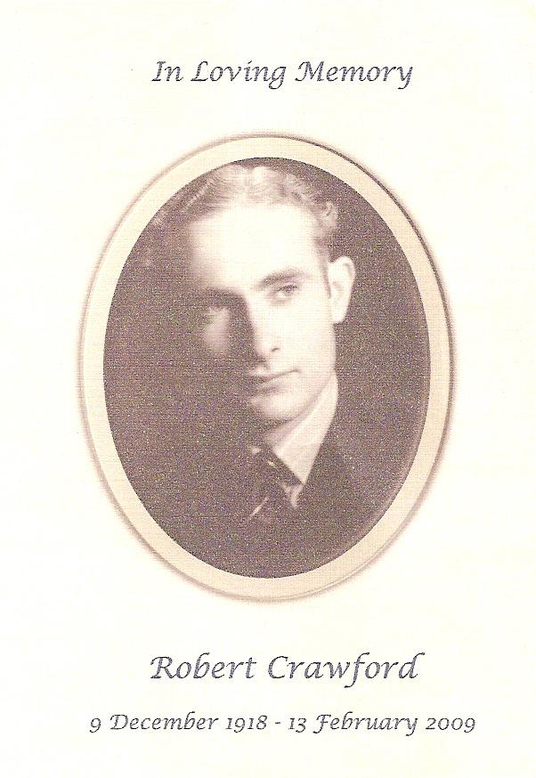 Robert Crawford memorial card