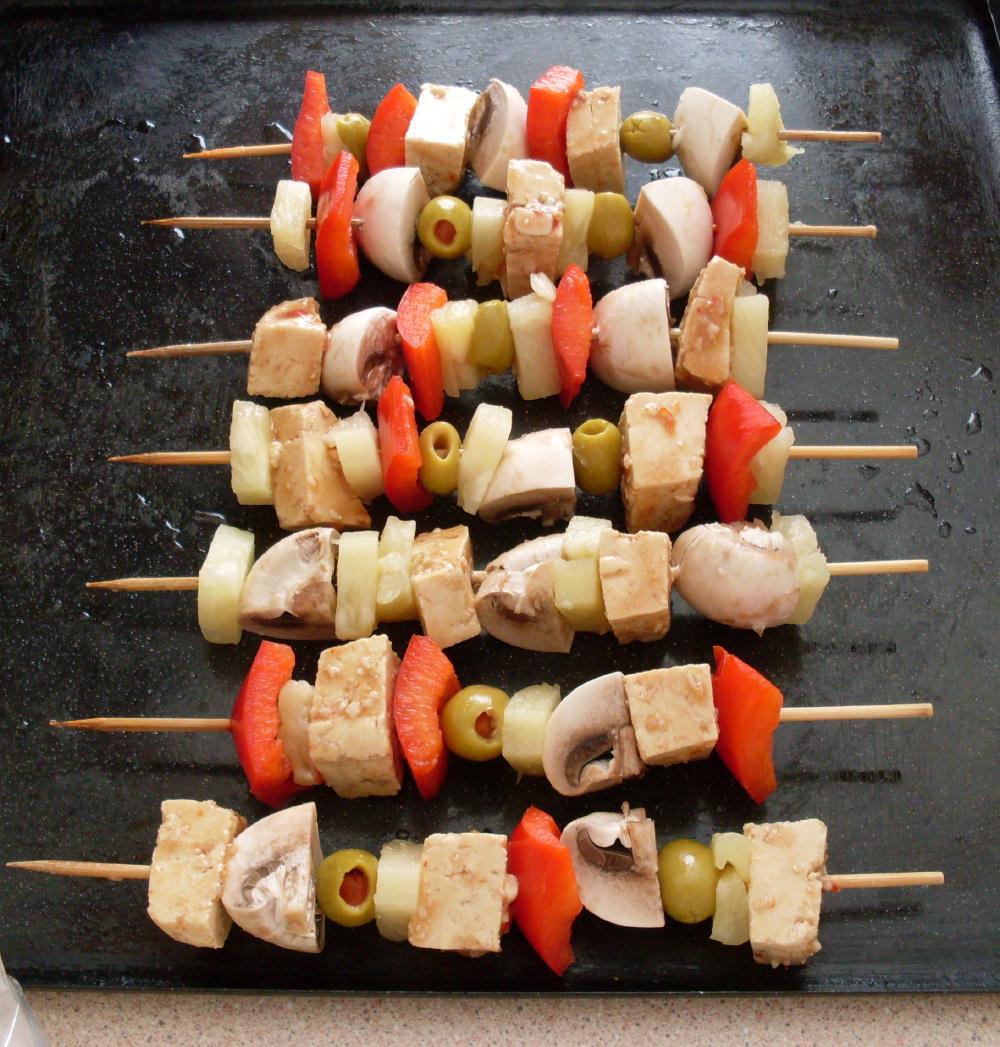 Uncooked kebabs